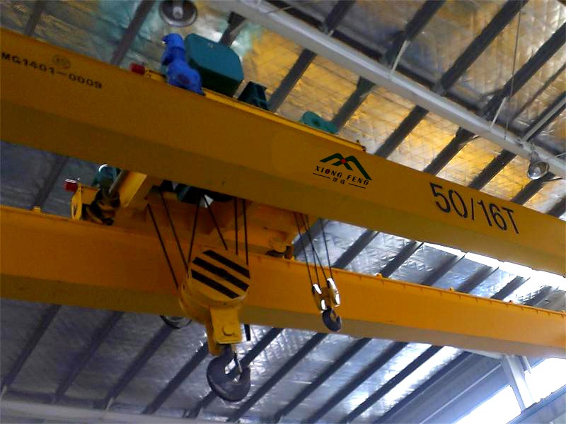 雄峰MH50/16t-12m吊钩门式双梁起重机
